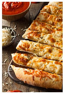 Cheese Stuffed Bread Sticks recipe from Mountain View Country Market in Chuckey,TN