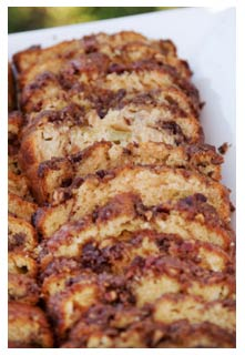 Rhubarb Streusel Bread recipe from Mountain View Country Market in Chuckey,TN
