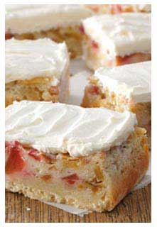 Rhubarb Custard Bars recipe from Mountain View Country Market in Chuckey,TN