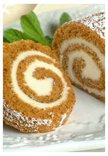 Free Pumpkin roll with cream cheese filling recipe from Mountain View Country Market in Chuckey,TN