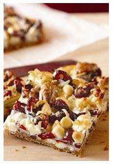 Coconut Cranberry Bars recipe from Mountain View Country Market in Chuckey, Tennessee