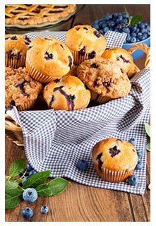 Free Blueberry Lemon Muffins recipe from Mountain View Country Market in Tennessee
