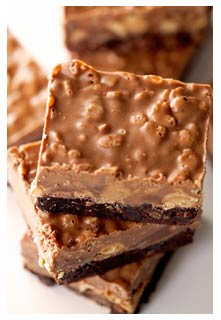 Free Crispy Peanut Butter Brownies recipe from Mountain View Country Market in Tennessee