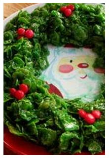 Candy Holly Wreath Recipe Mountain View Country Market