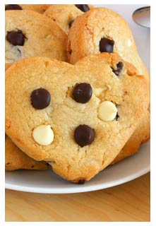 Chocolate Chip Cookie Hearts from Mountain View Country Market in Chuckey, Tennessee