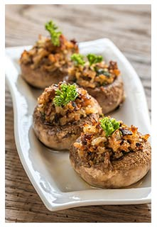 Free Gourmet Stuffed Mushrooms recipe from Mountain View Country Market in Tennessee