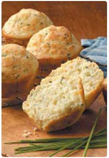 Feta & Chives Muffins recipe from Mountain View Country Market in Chuckey, Tennessee