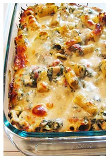 Free recipe for Chicken Spinach Pasta Bake from Mountain View Country Market iN Chuckey,Tennessee