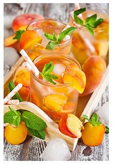 Free Peach Lemonade recipe from Mountain View Country Market in Tennessee