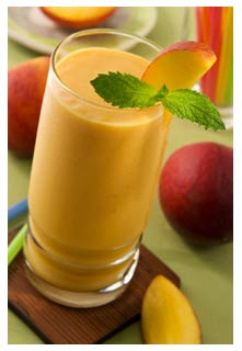 Free Peach Smoothies recipe from Mountain View Country Market in Tennessee