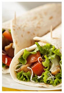 Free Cranberry-Pecan Chicken Salad Wraps recipe from Mountain View Country Market in Tennessee