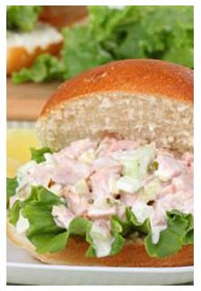 Ham Salad Sandwiches recipe from Mountain View Country Market in Chuckey, Tennessee