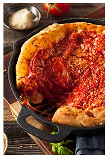Chicago Style Pan Pizza Recipe from Mountain View Country Market in Chuckey, Tennessee