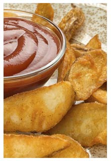 Crispy Potato Wedges recipe from Mountain View Country Market in Chuckey, Tennessee