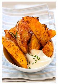 Free Spicy Potato Wedges recipe from Mountain View Country Market in Tennessee