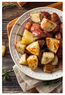 Free Zesty Herb Roasted Potatoes recipe from Mountain View Country Market in Tennessee