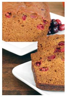 Free Pumpkin Cranberry Bread recipe from Mountain View Country Market In chuckey, tennessee