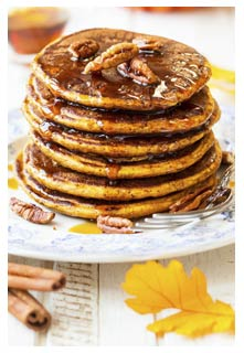 Free Pumpkin Spice Pancakes recipe from Mountain View Country Market in Tennessee