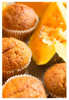 Free Pumpkin White Chocolate Muffins recipe from Mountain View Country Market in Tennessee
