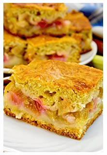 Free Rhubarb Cake recipe from Mountain View Country Market in Tennessee