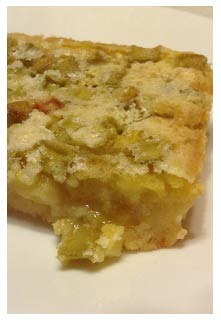 Rhubarb Dream Bars recipe from Mountain View Country Market in Chuckey,TN