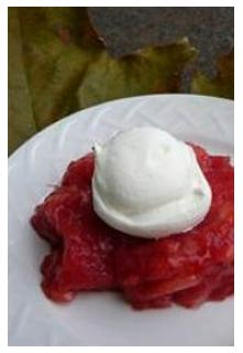 Rhubarb Jello Salad Recipe from Mountain View Country Market in Chuckey,TN