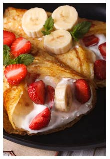 Free Strawberry Banana Crepes recipe from Mountain View Country Market in Tennessee