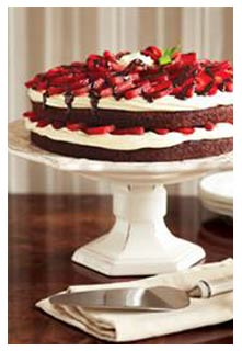 Free Strawberry Brownie Torte recipe from Mountain View Country Market in Tennessee