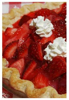 Strawberry Chocolate Pie Recipe from Mountain View Country Market in Chuckey, Tennessee