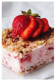 Free Frosty Strawberry Squares recipe from Mountain View Country Market in Tennessee