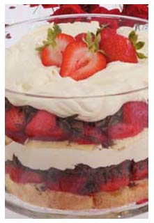 Strawberry Tiramisu Trifle recipe from Mountain View Country Market in Chuckey,TN