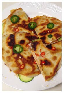 Spicy Zucchini Quesadillas recipe from Mountain View Country Market in Chuckey, Tennessee